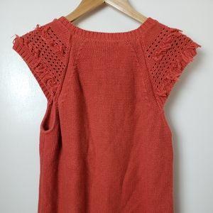 Banana Replubic   Knitted Short Sleeve Sweater